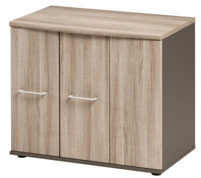 Jazz Low Cupboard With Folding Doors Grey Oak