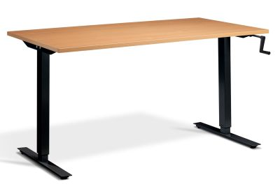 Swift Bold Hand Crank Height Adjustable Desk