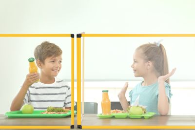 Scholar Duo Classroom Table Glass Protection Screens