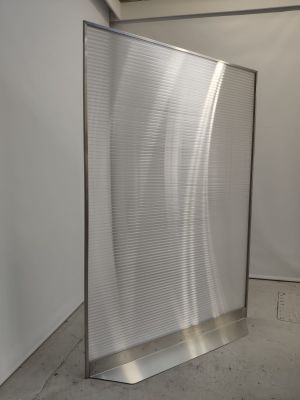 Armour Express Full Height Polycarbonate Screen Angle View