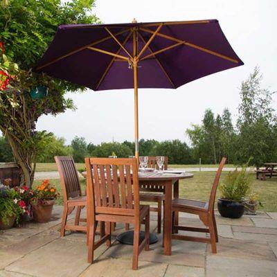 Dartmoor Six Person Bench Set Parasol