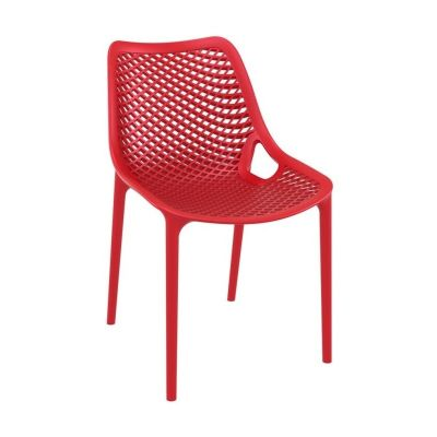 Onda Outdoor Dining Chairs Red