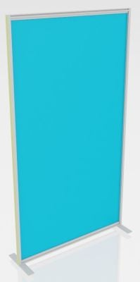Orion Protection Freestanding Transparent Glass Or Acrylic Screens Blue