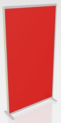 Orion Protection Freestanding Transparent Glass Or Acrylic Screens Red