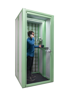 Austin Phonebooth Green Trim