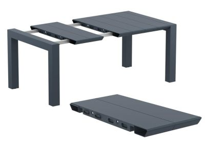 Degal Outdoor Extendable Table In Dark Grey