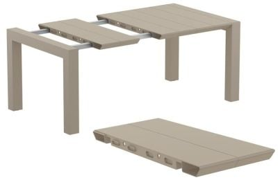 Degal Outdoor Extendable Table In Taupe