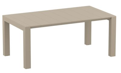 Degal Large Outdoor Extendable Table In Taupe