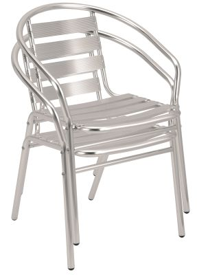 Pandora Aluminium Armchair Shown Stacked