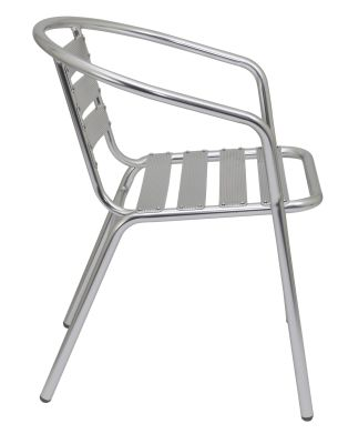 Pandora Aluminium Armchair Shown From Teh Side
